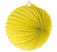 GoDan Lampión guľa - žltý / 25 cm