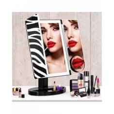 Bezdoteku BEZDOTEKU Třípanelové kozmetické make-up zrkadlo s led osvetlením veľké ZEBRA
