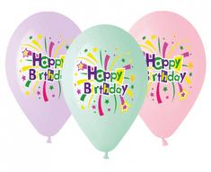 "Gemar Latexové balóny PREMIUM ""Happy Birthday"" - na hélium - 5 ks"