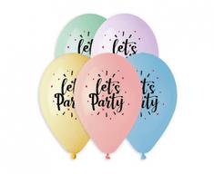 Gemar Latex léggömbök PREMIUM ezekkel a szavakkal let´s Party - hélium - 5p