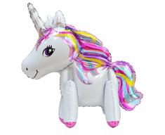 "GoDan Fóliový balón ""Unicorn"" - biela - 65 cm na vzduch"
