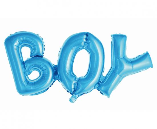 "GoDan Fóliový balón nápis ""BOY"" - modrá - 73 cm na vzduch"