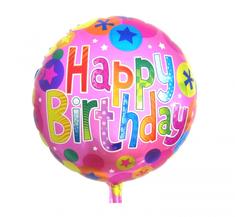 """GoDan Fóliový balón 18"""" Happy Birthday - ružová"""