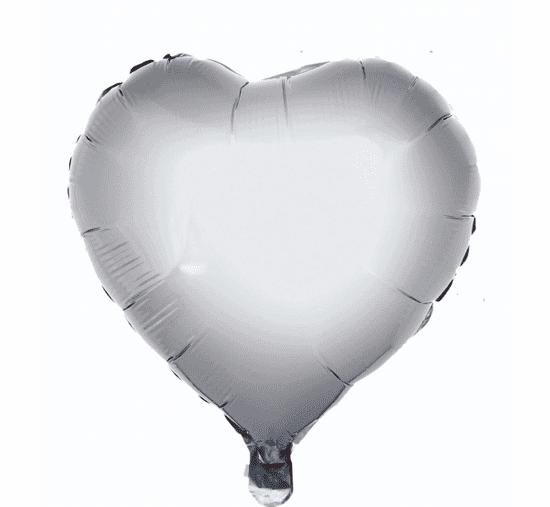 "GoDan Fóliový balón 18"" Strieborné srdce"