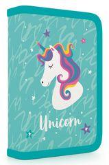 Karton P+P Egyszintes iskolai tolltartó, Unicorn iconic, feltöltött