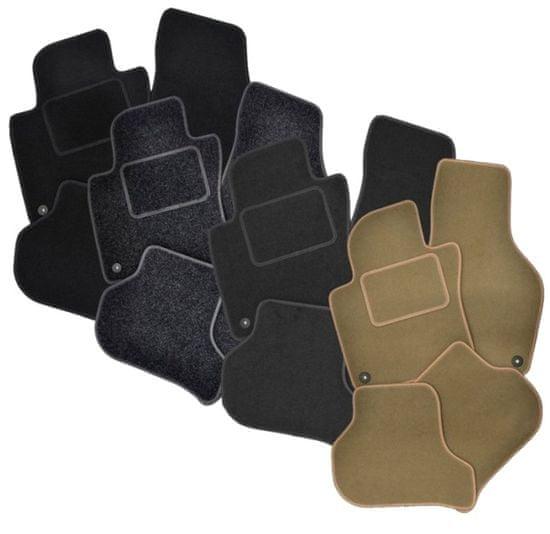 Vopi Textilní autokoberce Opel Zafira A 1999-2005 (5 míst), barva koberce: černá, barva obšití: černé