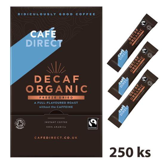 Cafédirect BIO instantná káva bez kofeínu 250 x 1,5 g