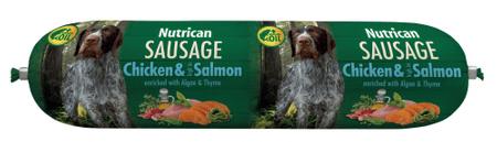 Nutrican karma psów Sausage Chicken&Salmon 12x800 g