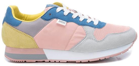 XTI Dámske tenisky Pink - Grey Textile Ladies Shoes 49820 Pink - Grey (Veľkosť 37)
