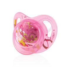 Nuby Silikónový ortodontický masážny cumlík 18+m - Ružový