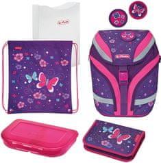 Herlitz šolska torba SoftFlex, motiv z metulji, večbarvna