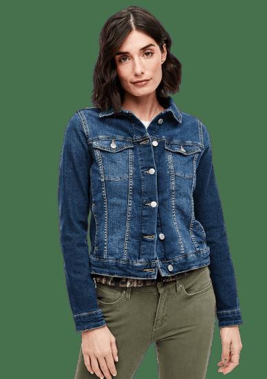 s.Oliver dievčenská džínsová bunda 04.899.51.6087 34 tmavomodrá