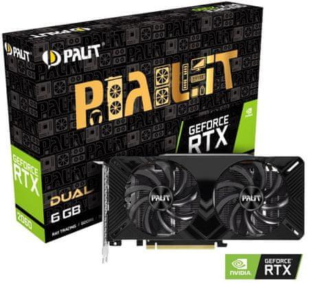 PALiT Dual GeForce RTX 2060, 6 GB GDDR6 grafična kartica