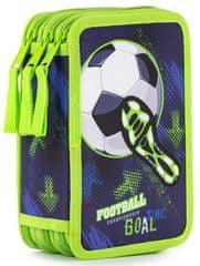Karton P+P piórnik 3-piętrowy Fotbal