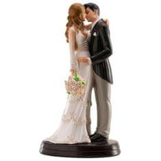 Dekora Svatební figurka na dort 18cm něžný polibek