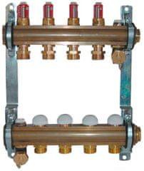 Herz Herz 1853204 rozdělovač a sběrač podlahového vytápění, 4 okruhový, DN25, s průtokoměrem
