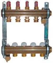 Herz Herz 1853205 rozdělovač a sběrač podlahového vytápění, 5 okruhový, DN25, s průtokoměrem