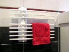 ELVL Elektrický sušák ručníků LINER.E 550 x 395 x 80, bílý, výkon 80 Wattů