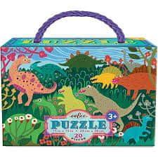 eeBoo Puzzle - Dinosauří louka 20 dílků