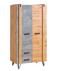 Dolmar Dvoudveřová šatní skříň Lofter LO1