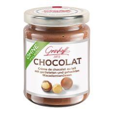 Grashoff Mléčný čokoládový krém s praženými makadamiovými oříšky, 250g