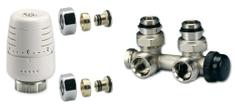 IVAR Ventilový set pro středové koupelnové radiátory, rohový, IVAR KIT M RO 02/1 pro Pex 16