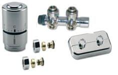 IVAR CHROMOVÝ Ventilový set pro středové koupelnové radiátory, rohový,IVAR KIT DV 10416, PEX 16
