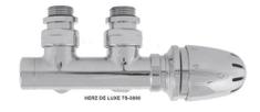 Herz CHROMOVÝ Ventilový set pro středové koupelnové radiátory, rohový HERZ S 3600 15- CU 15