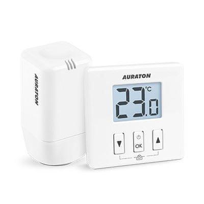 IVAR Termostatická hlavice s termostatem AURATON 200 TRA, bezdrátový, elektronický