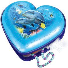 Ravensburger puzzle 3D Serce Podwodny świat, 54 elementy