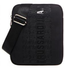 Trussardi Jeans pánska čierna crossbody taška 71B00180-9Y099999