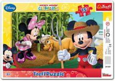 Trefl Puzzle Mickeyho klub: Na farme 15 dielikov