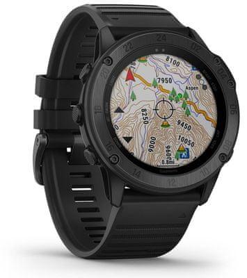 Inteligentné hodinky Garmin tactix Delta, optické sledovanie tepu, srdcovej činnosti, variabilita pulzu, okysličenie krvi, aeróbna vytrvalosť, VO2 Max, bežecké cyklistické metriky, plávanie, hudobný prehrávač