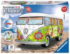 Ravensburger 3D puzzle Autobus Volkswagen T1 Hippie Style 162 dílků