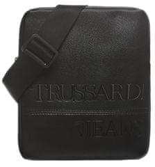 Trussardi Jeans pánska čierna crossbody taška 71B00192-9Y099999