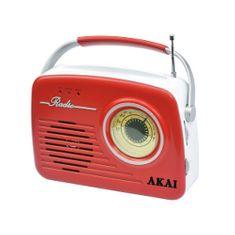 Akai APR-11R RED Retro stílusú rádió, 9204486   APR-11R RED Retro stílusú rádió