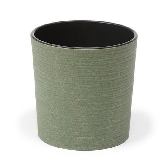 Lamela kvetináč Malwa ECO Dluto vrúbok Ø 19 cm, lesná zelená