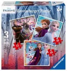 Ravensburger Puzzle 030330 Disney Kraina lodu 2 3w1