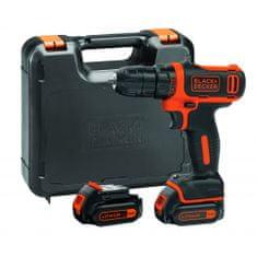 Black+Decker BDCDD12K akumulatorska bušilica/odvijač, 10,8 V, 1,5 Ah