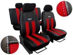 Pokter Autopoťahy Leather Look GT červené