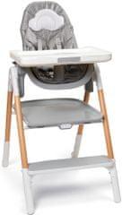 Skip hop Židle jídelní/schůdky 2v1 Sit To Step šedo-bílá