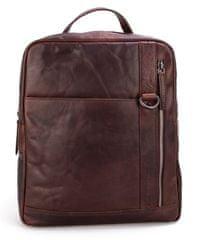 Spikes&Sparrow Hnědý kožený batoh SPIKES & SPARROW