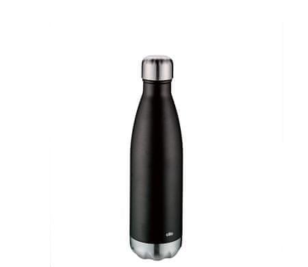 Cilio butelka termiczna ELEGANTE 500ml, czarna, matowa