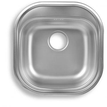 Novaservis Nerezový dřez 46x48, oválný, stříbrný - DR46/48