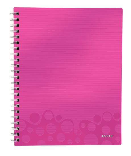 LEITZ Blok organizačné WOW A4 štvorčekový metalicky ružový