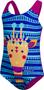 1 - Speedo Ess Applique 1PC IF jednodijelni kupaći kostim za djevojčice, ljubičasto-plava, 92