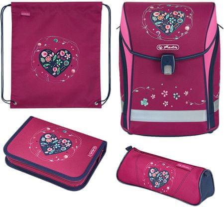 Herlitz šolska torba Midi Srce - opremljena