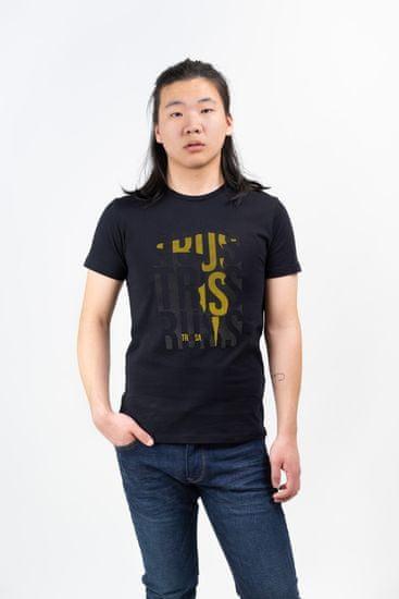 Trussardi Jeans pánske tričko 52T00324-1T003610 S čierna