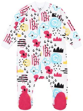 Garnamama pajacyk dziecięcy do spania 86 biały/różowy
