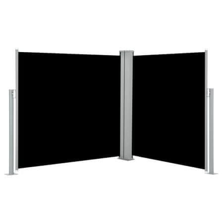 shumee Zwijana markiza boczna, czarna, 100 x 600 cm